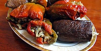 Kuru Biber Dolması ile Patlıcan Dolması Thumbnail